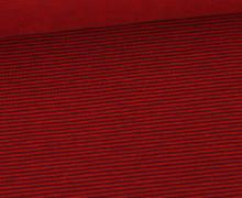 Jersey - Fine Stripes - Rot/Aubergine