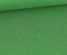 Glattes Bündchen - Streifen - Stripes - 1mm - Schlauchware - Grasgrün/Tannengrün