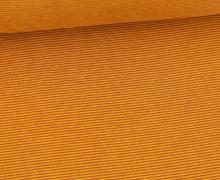 Glattes Bündchen - Streifen - Stripes - 1mm - Schlauchware - Lehmbraun/Maisgelb