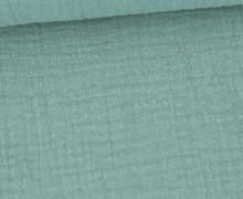 Musselin Lotta - Muslin - Uni - Double Gauze - Schnuffeltuch - Windeltuch - Lichtgrün Dunkel