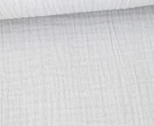Musselin Lotta – Muslin – Uni – Double Gauze – Schnuffeltuch – Windeltuch – Hellgrau