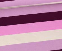 Jersey - Bunte Breite Streifen - Multicolor - Lichtgrau/Beere/Lila Hell/ Violett Hell