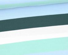 Jersey - Bunte Breite Streifen - Multicolor - Weiß/Dunkelgrün/Pastellblau/Mint