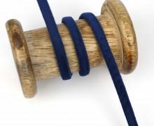 1m Samtschnur - Schmales Band - 6mm - Nachtblau
