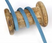 1m Samtschnur - Schmales Band - 6mm - Taubenblau