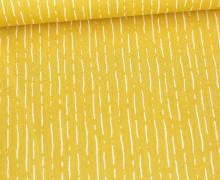 Baumwolle - Webware - Poplin - Line Design - Maisgelb