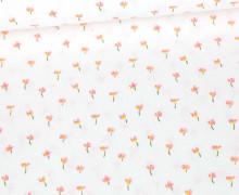 Baumwolle - Webware - Flower - Tiny Flower - Poppy - Weiß