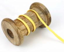 1 Meter Weiches Gummiband - Uni - 5mm - Gelb