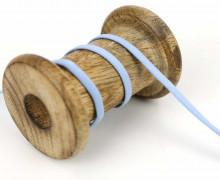 1 Meter Weiches Gummiband - Uni - 5mm - Pastellblau