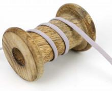 1 Meter Weiches Gummiband - Uni - 5mm - Graulila