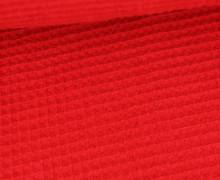 Waffel Piqué - Baumwolle - Rot