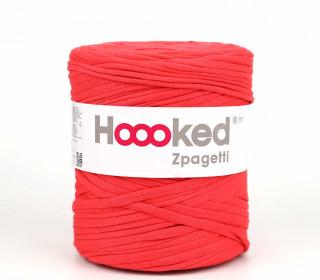 1 Knäuel Zpagetti Garn - Recycelte Fasern - Jersey Band - 120m - Hoooked  - Erdbeerrot