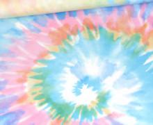 Sommersweat - Bio Qualität - Tie-Dye Love - Batik - Spirale - Bunt - Paneel - abby and me
