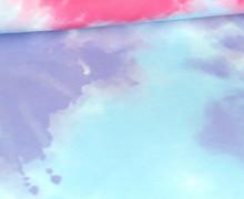 Sommersweat - Bio Qualität - Tie-Dye Love - Batik - Color blocking - Bunt - Paneel - abby and me