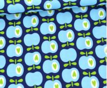 Antimikrobieller Jersey - SHIELD - Kids - Behelf-Mund-Nasen-Schutz - Hamburger Liebe - Simply Apples - Dunkelblau