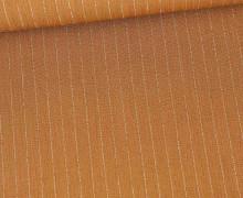 Viskose Crincle - Blusenstoff - Silberne Nadelstreifen - Braun
