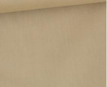 Baumwolle – Popelin – Webware – Uni – 145cm – Beige