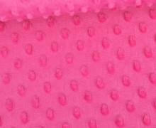 Minky - Microfaser-Plüsch - Dots - Punkte - Pink