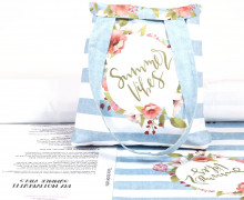 DIY-NÄHSET - Motivbeutel - Shopper - Summer Vibes - abby and me