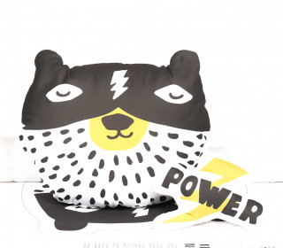 Kissenstoff – DIY – Power Bear – Power Blitz – Heldenzeit – abby and me