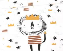 Jersey - Paneel - Little Lion King - Heldenzeit - Bio-Qualität - Weiß - abby and me