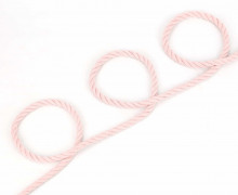 1m Hoodieband - Baumwollkordel - Kordel - Gedreht - Uni - 8mm - Rosa