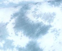 Musselin - Muslin - Double Gauze - Batik - Blaugrau/Weiß