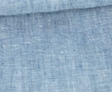 Leinen - Uni - Meliert - 160g - Blau