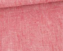 Leinen - Uni - Meliert - 160g - Rot