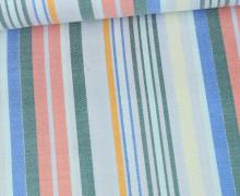 Viskose Metallic - Streifen - Bunt - Rosa/Grün/Blau