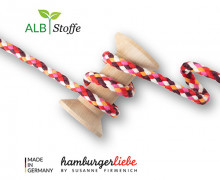 Flechtkordel - Big Mix - Twist Me - Multi - Hamburger Liebe - Weiß/Orange/Rot/Pink/Bordeaux