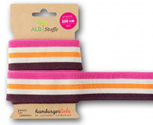 Streifenband - Stripe Me - College - 5 Stripes - Bloom - Multi - Hamburger Liebe - Bordeaux