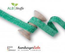 Hoodiekordel - Flachkordel - Cord Me - Bloom - Melange - Hamburger Liebe - Weiß/Grasgrün