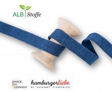 Hoodiekordel - Flachkordel - Cord Me - Bloom - Melange - Hamburger Liebe - Stahlblau/Dunkelblau