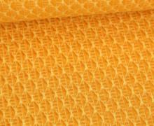 Bio-Elastic Minijacquard Jersey - 3D - Leafy Knit - Bloom - Hamburger Liebe - Maisgelb