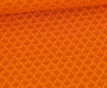 Bio-Elastic Minijacquard Jersey - 3D - Hashtag Knit - Bloom - Hamburger Liebe - Orange