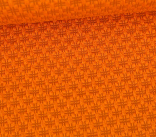 Bio-Elastic Minijacquard Jersey - 3D - Hashtag Knit - Bloom - Hamburger Liebe - Orange
