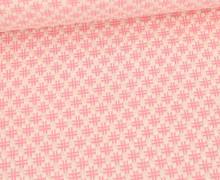 Bio-Elastic Minijacquard Jersey - 3D - Hashtag Knit - Bloom - Hamburger Liebe - Weiß