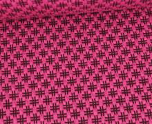 Bio-Elastic Minijacquard Jersey - 3D - Hashtag Knit - Bloom - Hamburger Liebe - Pink