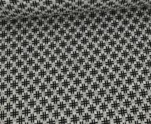Bio-Elastic Minijacquard Jersey - 3D - Hashtag Knit - Bloom - Hamburger Liebe - Hellgrau