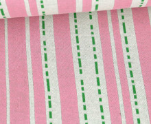 Bio-Jacquard - 3Farb Spezial Jacquard Jersey - Pin Stripes - Bloom - Babyrosa - Hamburger Liebe