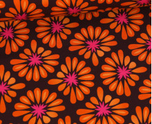 Bio-Jersey - All Over - Bloom - Dunkelbraun/Orange - Hamburger Liebe
