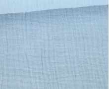 Musselin Lotta - Muslin - Uni - Double Gauze - Schnuffeltuch - Windeltuch - Himmelblau