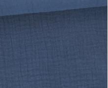 Musselin Lotta - Muslin - Uni - Double Gauze - Schnuffeltuch - Windeltuch - Taubenblau Dunkel