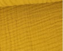 Musselin - Muslin - Uni - Triple Gauze - 190gr - Schnuffeltuch - Windeltuch - Senfgelb