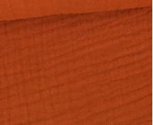 Musselin - Muslin - Uni - Triple Gauze - 190gr - Schnuffeltuch - Windeltuch - Rostorange