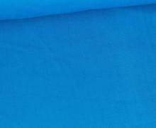 Baumwolle - Webware - Uni - 150cm - Cyanblau