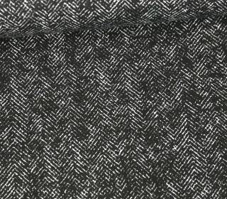 Baumwolle - Webware - Strich-Druckmuster - Schwarz/Weiß