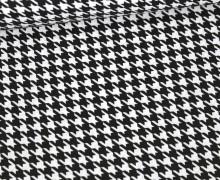 Baumwolle - Webware - Hahnentrittmuster - Schwarz/Weiß