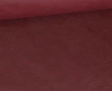 Kunstleder - Fashionstoff - Nappa - Uni - 140cm - Weinrot